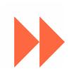 Arrow sign icon circle button fast forward vector image vector image