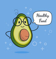 avocado with speech bubble balloon sticker cool vector image