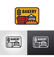 bakery logo and sign vector image vector image