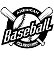Baseball tournament professional logo