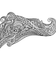 black and white pattern in a zentangle style Hand vector image vector image