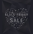 black friday sale poster with heart and dots vector image vector image