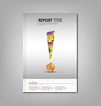 Brochures book with colored exclamation template vector image vector image