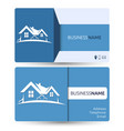 business card for real estate vector image vector image