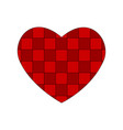 checkered red heart valentines day pattern vector image vector image