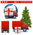 Christmas Delivery Set 3 vector image vector image