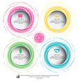 circle colorful can be used for workflow layout vector image vector image