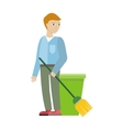 Cleaning Service Concept in Flat Design vector image vector image