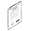 clipboard for holding paper in place sketch draw vector image