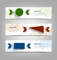 collection banners with colorful geometric vector image vector image