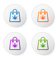 color shopping paper bag medical marijuana or vector image vector image