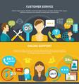 customer service horizontal banners vector image vector image