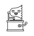 cute lovely kawaii gramophone cartoon vector image