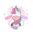 cute unicorns like a surprise birthday vector image