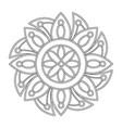 decorative colorless mandala vector image vector image