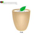 Doogh or Afghan Fermented Milk with Sour and Spice vector image vector image