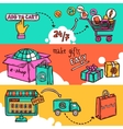 E-commerce Banner Set vector image vector image