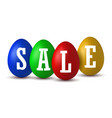 easter egg text sale happy easter eggs 3d vector image