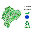 eco green composition ecuador map vector image vector image