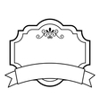 elegant badge isolated icon design vector image vector image