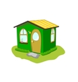 fantastic green lodge on a white background vector image