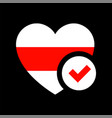 flag republic belarus vector image