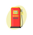 gas station on a white background in flat design vector image