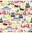 german seamless pattern germany national vector image vector image