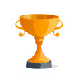 golden metallic trophy cup isolated icon vector image