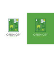 green city logo vector image vector image