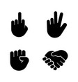 hand gestures simple related icons vector image