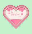 happy valentines day paper art valentine vector image vector image