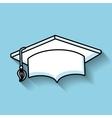 hat graduation line icon vector image vector image