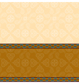 indian background with border vector image vector image