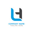 initial lh letter business logo design template vector image vector image