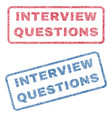 Interview questions textile stamps vector image