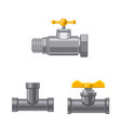 isolated object of pipe and tube sign set of pipe vector image