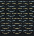 leaf branch stripes pattern seamless vector image vector image