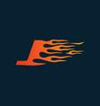 letter j flame logo speed logo design concept vector image