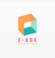 logo box gradient colorful style vector image