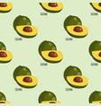 lucuma fruit seamless botanical pattern background vector image vector image