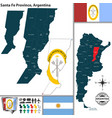 map of santa fe province argentina vector image vector image