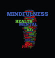 mindfulness and mental health improvement text vector image vector image