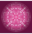 Ornamental round lace freehand vector image vector image