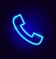phone call neon sign vector image vector image