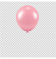 pink balloon isolated transparent background vector image vector image