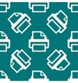 Printer web icon flat design Seamless pattern vector image