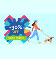 promotion sales and discounts a girl is vector image vector image