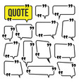 quote frame set website review icon vector image vector image