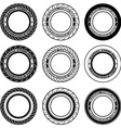 radial tubeless motorcycle tyre symbols vector image vector image